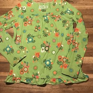 Children's place ruffled long sleeve size 10/12